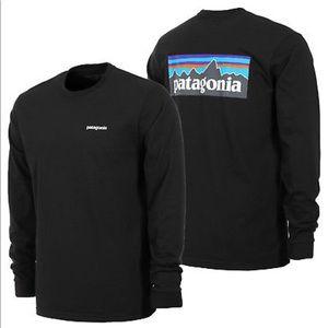 Patagonia Black Mountain Logo Long Sleeve Shirt